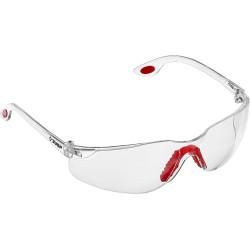 Прозрачные очки защитные открытого типа ЗУБР Спектр 3, двухкомпонентные дужки / 110315